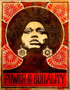 """""""Power and Equality"""" Artist: Shepard Fairey, OBEY Angela Davis: former Black Panther, UCSC Professor, and Political Activist (sooo sad I had this as a shirt but it got ruined in the wash! Angela Davis, Black Power, Black Panther Party, Kunst Poster, Poster Poster, Art Africain, Power To The People, Feminist Art, Drawing Tutorials"""