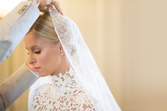 And The Bride Wore...: Nicky Hilton's Wedding Gown Fitting  - HarpersBAZAAR.com