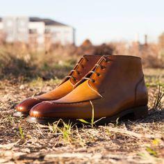 http://chicerman.com  cobblerunion:  The travelers best friend. #CobblerUnion  The Renoir #boot by Cobbler Union  #menshoes