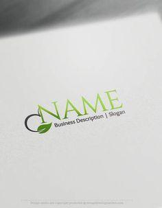Design Free Logo: Leaf Online Logo Template