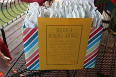 Couples Baby Shower BBQ - No so lame shower game. Write a late night message on the front of a diaper with a sharpie to make mom laugh.