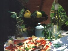 Carpaccio mit Champignons und Parmesan