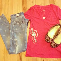Outfit, style, fashion, gap, target, j. crew factory, polka dots, leopard, Instagram @emily_soto