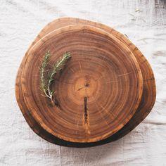 Tronco: tábua de madeira rústica