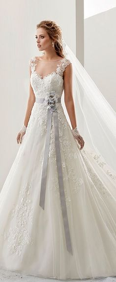 7bca88040158 Attractive Tulle   Satin Bateau Neckline A-Line Wedding Dresses With Beaded  Lace Appliques by lori
