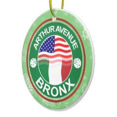 Christmas Ornament Arthur Avenue Bronx Italian. For more holiday ornaments, please check out my store: www.zazzle.com/celticana*/ #ChristmasOrnaments #ChristmasDecorations #Zazzle #ItalianAmerican