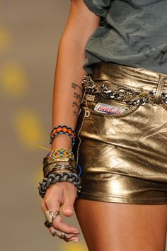 gold leather shorts!