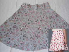 Um modelo de saia que fica muito bem tanto para as magrinhas quanto para as cheinhas, pois a pala mais larga disfarça a barriguinha. Segue esquema de modelagem do 36 ao 56.