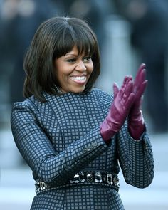 Michelle Obama avec une frange old mill merchant 24872 old west 1871 truly victorian tv400