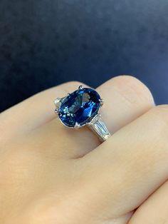 Sapphire Diamond Engagement, Blue Sapphire Rings, Halo Diamond, Baguette Diamond, Custom Made Engagement Rings, Ring Engagement, 3 Stone Rings, Bezel Ring, Morganite Ring