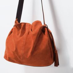 SUEDE BUCKET BAG WITH TASSEL-Handbags-Woman-COLLECTION SS15 | ZARA United States