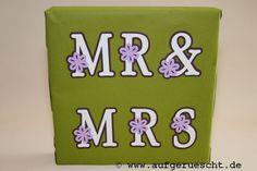 Verpackung von Hochzeitsgeschenk