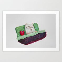 Sleeping Art Print by Elena Goatelli - $20.00