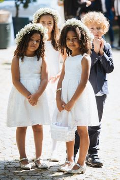 A Brazilian wedding overlooking Turin Flower Girl Gown, Flower Girls, Brazilian Wedding, Girl Hair Dos, Bridesmaid Dresses, Wedding Dresses, Bridesmaids, Angel Dress, Gowns For Girls