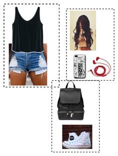 """""""TK"""" by thaiskelly on Polyvore featuring FOSSIL, Converse, MANGO, COSTUME NATIONAL, women's clothing, women's fashion, women, female, woman and misses"""