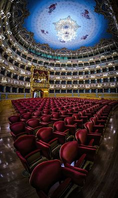 Beautiful Places...La Fenice Theatre, San Marco, Venice, Italy, by Paul & Helen Woodford via Fivehundredpx.