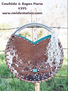 Cowhide and Ropes Purse by ReRideStories on Etsy