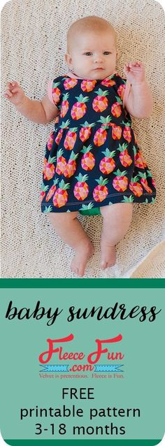 Sewing Clothes I love this baby sundress tutorial that has a free sewing pattern. So sweet and simple. Great Sewing Project for babies. I love sewing baby clothes for my little one. Sewing Baby Clothes, Baby Clothes Patterns, Sewing Patterns Free, Free Sewing, Clothing Patterns, Sewing Tips, Free Pattern, Diy Clothes, Sewing Ideas