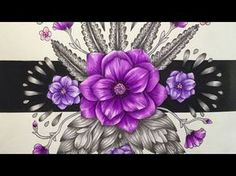 TWILIGHT GARDEN - BLOMSTERMANDALA by Maria Trolle - prismacolor pencils - YouTube