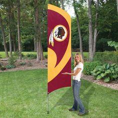 Tall Team Flag with Pole - Washington Redskins