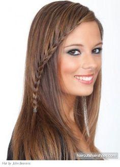 hairstyles braids | Braided bangs hair style long hairstyles gallery
