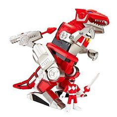 Power Ranger Kid's Toy Action Figure Red Ranger T-Rex Zord By Fisher-Price #FisherPrice