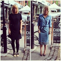 #pushwears with Emma and Victoria All black versus double denim.
