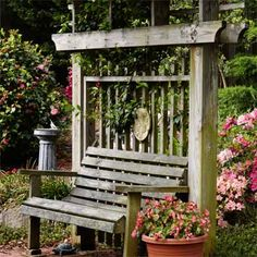A sweet, handcrafted arbor has become a gathering destination in this reader's Virginia yard. | Photo: Adam Ewing | thisoldhouse.com