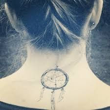 Billedresultat for dreamcatcher tattoo neck