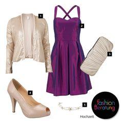 Tina ist demnächst auf eine Hochzeit eingeladen und war auf der Suche nach einem schlichten lila- oder fliederfarbenen Kleid. Wir haben ihr drei Style-Varianten zusammengestellt.  1. Blazer von Vila: http://tools.otto.de/l/Cardigan11  2. Kleid von Laura Scott Evening: http://tools.otto.de/l/Kleid11  3. Tasche von Next: http://tools.otto.de/l/Tasche11  4. Peep Toes von Andrea Conti: http://tools.otto.de/l/PeepToes11  5. Diadem: http://tools.otto.de/l/Diadem