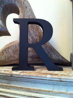 The Letter R - Freestanding Wooden Letter - from LoveLettersMe, via Etsy.