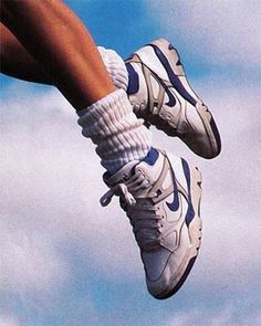 Retro Air Nike, get up like me Collage Mural, Bedroom Wall Collage, Photo Wall Collage, Picture Wall, Aesthetic Shoes, Aesthetic Vintage, 90s Aesthetic, Aesthetic Bedroom, Blue Aesthetic Grunge