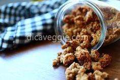 Granola de banana e manteiga de amendoim | DicaVeggie