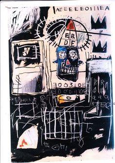 "Jean Michel Basquiat ""Untitled"", 1981 acrylic crayon, collage"