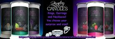 Jewelry in Candles! We sell wax tarts and scent beads as well. Ask me about products as well as becoming a rep today for free!