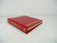 Vintage Red Leather StyleCraft Address Book 6 Ring by DivineOrders