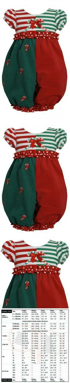 Red Green ColorBlock Candy Cane Applique Romper/Jumpsuit RD0SA Bonnie Jean Baby-Newborn Special Occasion Holiday BNJ romper-jumpsuit, Red Striped knit bodice; puffed cap sleeves; embroidered candy cane appliques; rufle trim at waist; key hole button closure in back. Red/Green corduroy pants; embroidered candy cane details; ruffle trim at cuffs; snap button closure at inseam. Machine wash. Imported... #Bonnie_Jean #Apparel