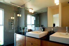 mid-century modern bathroom decor, Photo  mid-century modern bathroom decor Close up View.