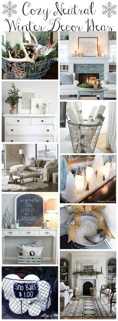 cozy-neutral-winter-decor-ideas-at-the-happy-housie & 50 Winter Decorating Ideas | Pinterest | Winter Holidays and Tutorials