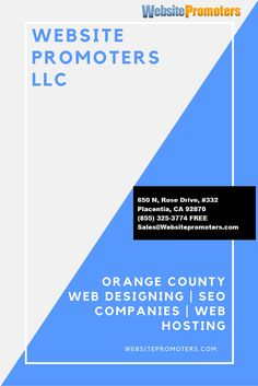 When it comes to website design services, there is no one that comes even close to what http://websitepromoters.com has at offer for the people of Orange County.email us Sales@Websitepromoters.com