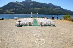 Mountains in the background make this ceremony on the shore of Vancouver Island even more scenic.Location:Strathcona Park Lodge and Outdoor Education Centre, in Campbell River, British Columbia