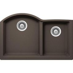 Buy Here: http://thd.co/1PNTfKS SCHOCK INSPIRE INPN175YU063 Undermount Composite 31 in. 0-Hole 70/30 Double Bowl Kitchen Sink in Mocha #kitchensink #kitchensinks #kitchen #sinks #schock #granitesink