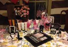 My Summer Mary Kay Open House Sale Display Table