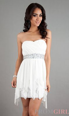 Strapless High Low Dress at PromGirl.com
