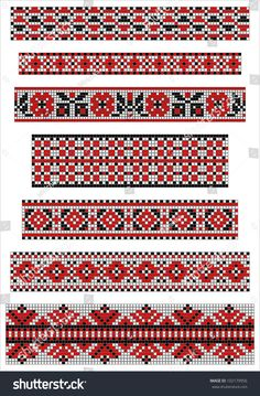 Cross Stitch Charts Ethnic cross stitch borders pattern Stock Photo - - Millions of Creative Stock Photos, Vectors, Videos and Music Files For Your Inspiration and Projects. Cross Stitch Borders, Crochet Borders, Cross Stitching, Cross Stitch Embroidery, Hand Embroidery, Cross Stitch Patterns, Loom Patterns, Beading Patterns, Embroidery Patterns