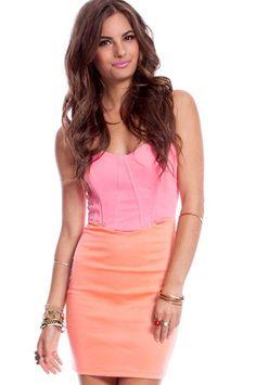 Boost Me Up Dress in Peach $44 at www.tobi.com