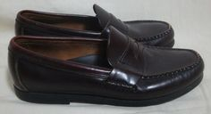 Sperry Top Sider Leather Penny Loafers Brown Slip On Shoes Youth Kids Boys 4.5 W #Perry #Loafers
