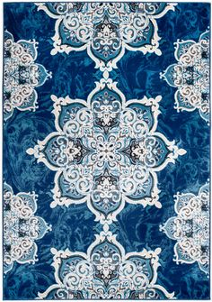 Chatham #09 Blue / White Traditional Area Rug
