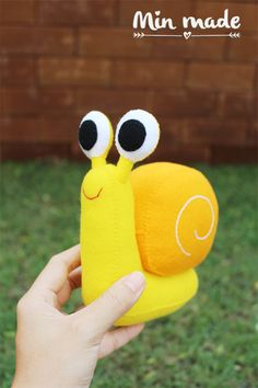 Snail Snail doll Felt snail Doll FeltToys Baby toys by MinmadeCute