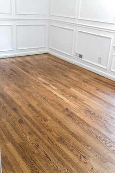 Everything You Need to Know to Refinish Hardwood Floors Minwax Provincial Stain a step-by-step guide for refinishing hardwood floors The post Everything You Need to Know to Refinish Hardwood Floors appeared first on Wood Diy. Hardwood Floor Stain Colors, Old Wood Floors, Rustic Wood Floors, Natural Wood Flooring, Light Hardwood Floors, Refinishing Hardwood Floors, Engineered Wood Floors, Painted Floors, Laminate Flooring